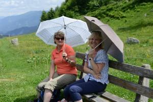 Zum Glück dienten die Regenschirme auf dieser Reise nur als Sonnenschutz.